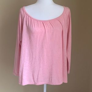 Velvet by Graham & Spencer Pink Knit Top, Size M